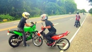 getlinkyoutube.com-Kawasaki KR150 KRR vs Yamaha Jupiter MX LC135 Sniper with Fastest Raider in TNR Davao