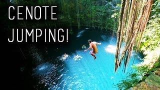 getlinkyoutube.com-CENOTE JUMPING!