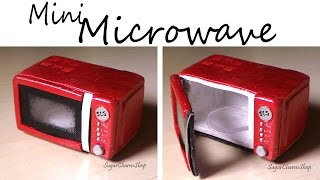 getlinkyoutube.com-Miniature Microwave - That Opens - Polymer Clay Tutorial