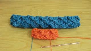 Crochet || Tutorial Merajut Motif Sisik - Crocodile Stitch