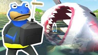getlinkyoutube.com-CONTROLLING THE GIANT SHARK - Amazing Frog - Part 87 | Pungence