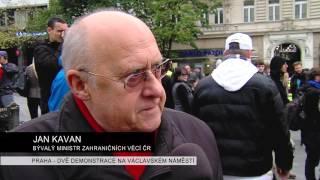 PRAHA - DEMONSTRACE PROTI PŘIJÍMÁNÍ UPRCHLÍKU NA VÁCLAVSKÉM NÁMĚSTÍ 17. 10. 2015