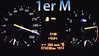 getlinkyoutube.com-BMW 1er M Acceleration 0-270 Sound Onboard Autobahn Aulitzky Tuning Burnout Revs
