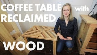 DIY Rustic Coffee Table w/ Reclaimed Wood