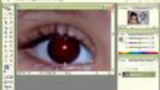 تعديل تأثير العين الحمراء