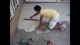 getlinkyoutube.com-Learn how to flip a deck to an amazing flagstone look made of Stencil concrete overlay. StampMyConcrete.com