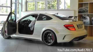 getlinkyoutube.com-Mercedes C63 AMG Black Series - Details / 3x Start Up / Loud Sound [Full HD]