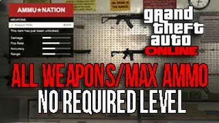 GTA 5 ONLINE - GET ALL WEAPONS (Minigun, RPG) + MAX AMMO (9,999) WITHOUT REQUIRED LEVELS [GTA V]