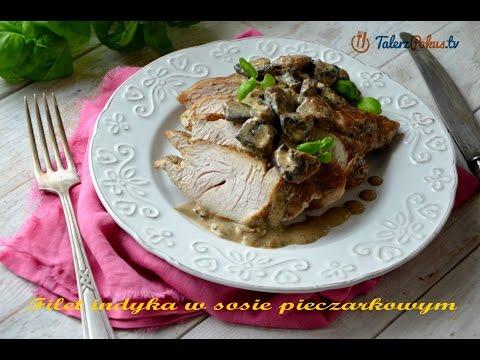 Filet indyka w sosie pieczarkowym