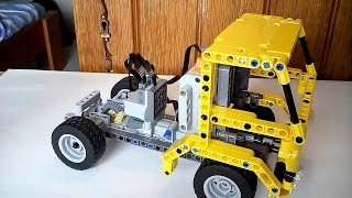 getlinkyoutube.com-896gerards tutorials 02   Building a simple Lego Technic Truck with the earlier built car chassis