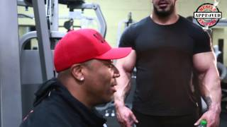 getlinkyoutube.com-Training Seminar with  Shawn Rhoden & Zack King Khan at Muscle Factory