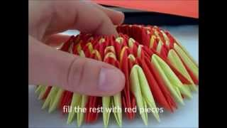 getlinkyoutube.com-3d origami 19 stick tailed peacock (how to make)