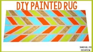 getlinkyoutube.com-DIY Painted Rug | Tanner Bell