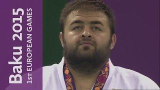 getlinkyoutube.com-Adam Okruashvili wins the Men's +100kg final | Judo | Baku 2015 European Games