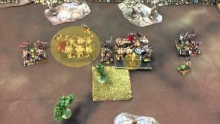 getlinkyoutube.com-449 Beast Herds vs Sylvan Elves 9th Age Fantasy Battle report