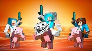getlinkyoutube.com-ME TROLEAN LOS CERDOS - Minijuegos Minecraft con Sylkeka y Edd00chan