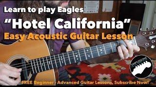 getlinkyoutube.com-Easy Hotel California Beginner Acoustic Guitar Lesson