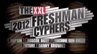 getlinkyoutube.com-XXL Freshmen 2012 Cypher - Part 1 - Hopsin, Roscoe Dash, Machine Gun Kelly, Future & Danny Brown
