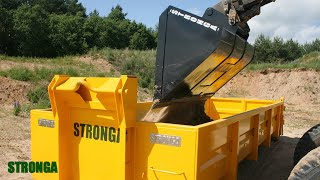 Stronga Rehandling Bucket attachment - Reliably moving heavy earth