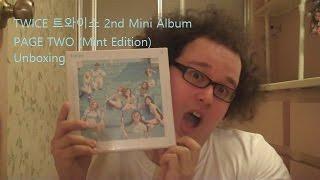 getlinkyoutube.com-Unboxing! TWICE 트와이스 2nd Mini Album PAGE TWO (Mint Edition)