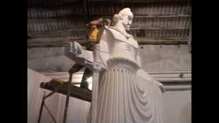 Una statua dedicato al re dei Taulanti , al re Monun (stirpe illirica)