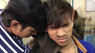 ASMR Indian Barber Head Massage By Sunil(Manish is getting the massage)
