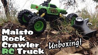 getlinkyoutube.com-Maisto Radio Controlled Rock Crawler TOY TRUCK Unboxing - ACTION
