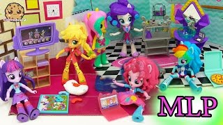 getlinkyoutube.com-My Little Pony Equestria Girls Mini Dolls Elements of Friendship  + Slumber Party Set
