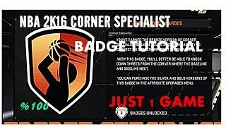 getlinkyoutube.com-How To Get Corner Specialist IN 1 GAME| NBA 2K16 | Tutorial