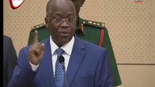 Mh. Rais Magufuli atema cheche Ikulu leo Wizi Wa Almasi na Tanzanite, waliotajwa kujiondoa wenyewe.