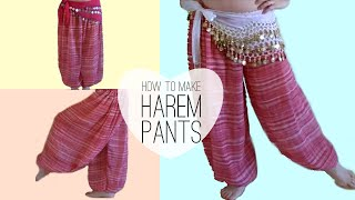 getlinkyoutube.com-Easy Belly Dancer Harem Pants DIY - Princess Jasmine Style