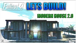 getlinkyoutube.com-Fallout 4 Wasteland Workshop - Lets Build Nordhagen Beach | Modern House 2.0 | No Mods