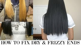 getlinkyoutube.com-How to Fix Dry & Frizzy Ends on Synthetic Hair/Wigs |  Motown Tress LXP-Lion Wig