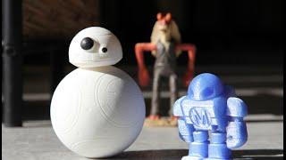 getlinkyoutube.com-BB-8 Droid - 3D Printed Sphero DIY Toy Testing