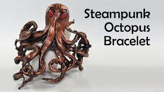 getlinkyoutube.com-Steampunk Octopus Bracelet - polymer clay tutorial