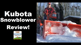 getlinkyoutube.com-Kubota BX5450 SNOWBLOWER Review