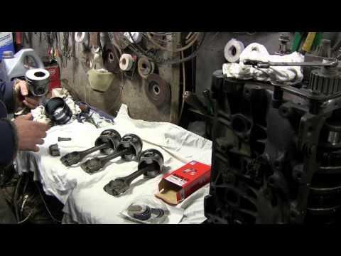 1.9 turbo diesel устанавливаем поршень в блок цилиндров и вкладыши с ионным напылением часть 10
