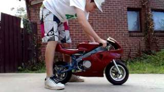 getlinkyoutube.com-how to start a pocket bike