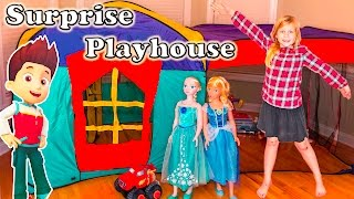 getlinkyoutube.com-SURPRISE PLAYHOUSE Paw Patrol + Disney Lion Guard + Blaze Surprise ToysToys Tent  Video