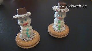 getlinkyoutube.com-Schneemann aus Süßigkeiten