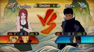 getlinkyoutube.com-Kushina vs Obito Gameplay Naruto Shippuden Ultimate Ninja Storm Revolution
