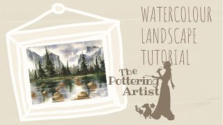 getlinkyoutube.com-Watercolor Landscape Tutorial - Yosemite - National Parks