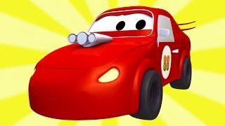getlinkyoutube.com-Tom o caminhão de reboque e a Super Patrulha com Carros de Corrida na Cidade do Carro