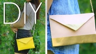 getlinkyoutube.com-DIY EASY No Sew Cute Cross Body Mini Purse/Clutch {How to MAKE}