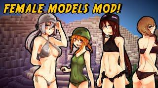 getlinkyoutube.com-Minecraft Mods - SEXY GIRLS MOD (Cute Female Mobs!)