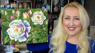 NEW AQYLA - Impressionistic Rose Time Lapse Demonstration
