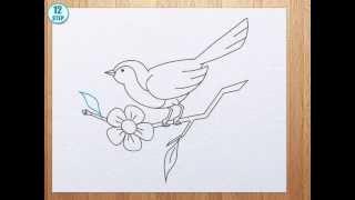 getlinkyoutube.com-How to draw bird