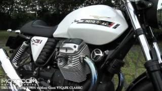 getlinkyoutube.com-TRIUMPH THRUXTON vs MOTO GUZZI V7 Cafe Classic  バイクインプレ