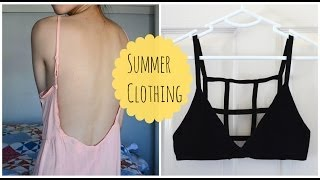 getlinkyoutube.com-✂ DIY: Caged Bralette & Low Back Dress