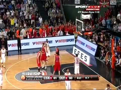 CSKA Moscow 61-62 Olympiakos Piraeus - LAST SHOT!!! Euroleague final 2012! 13.05.2012.mp4